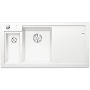 Кухненска мивка BLANCO AXON II 6S с ляво корито - цвят Кристално бял гланц