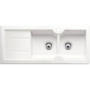 Кухненска мивка BLANCO IDESSA 8 S керамика с дясно корито - цвят Кристално бял гланц