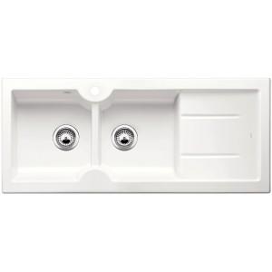 Кухненска мивка BLANCO IDESSA 8 S с ляво корито - цвят Кристално бял гланц