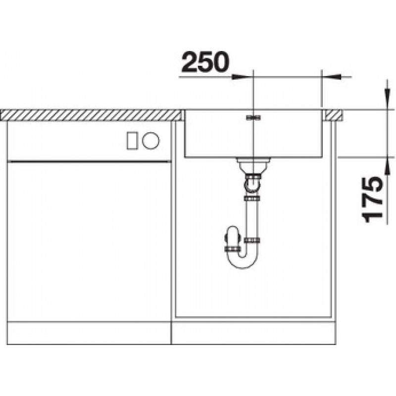Кухненска мивка BLANCO SUPRA 500-IF ЕВРОСЕТ BLANCO от www.evroset.bg