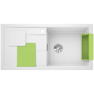 Кухненска мивка BLANCOSITY XL 6S - цвят Бял/ Зелен