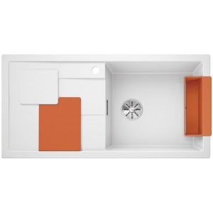 Кухненска мивка BLANCOSITY XL 6S - цвят Бял/ Оранжев