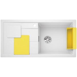 Кухненска мивка BLANCOSITY XL 6S - цвят Бял/ Жълт