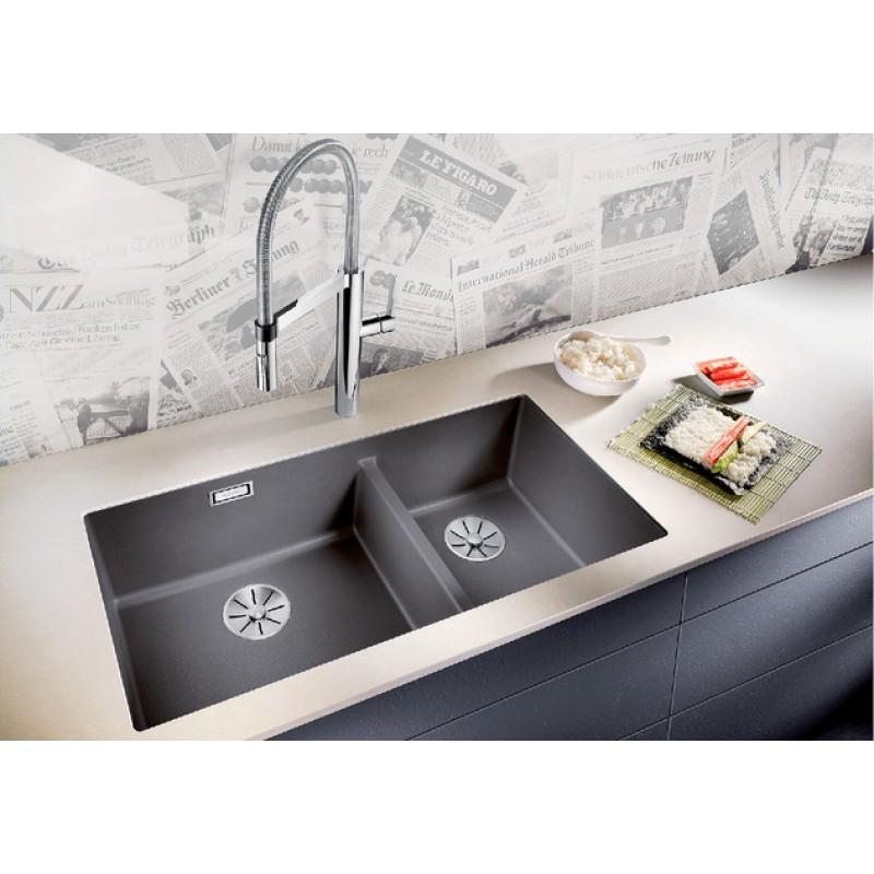 Кухненска мивка BLANCO SUBLINE 480/320-U - цвят Кафе ЕВРОСЕТ BLANCO от www.evroset.bg