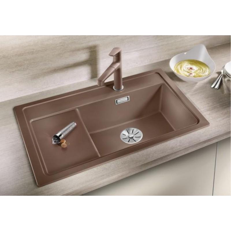 Кухненска мивка BLANCO ZENAR XL 6S Compact с дясно корито - цвят Кафе ЕВРОСЕТ BLANCO от www.evroset.bg