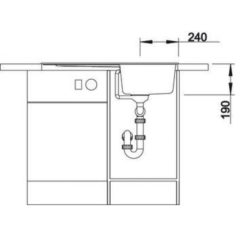 Кухненска мивка BLANCO ZIA 45 SL - цвят Трюфел ЕВРОСЕТ BLANCO от www.evroset.bg